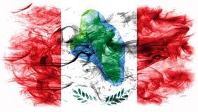 Vlag van de de stadsrook van Cumberland de Hoofd, de Staat van New York, Verenigde Staten O Stock Afbeelding