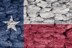 Vlag van de textuur van Texas stock afbeelding