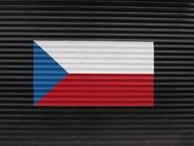 Vlag van de Tsjechische Republiek Royalty-vrije Stock Foto's