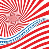 Vlag van de V Amerikaans symbool De vlagpictogram van de V.S. Illustratie voor Onafhankelijkheid Dag 4 Juli Vlag Zondag 14 Juni royalty-vrije illustratie