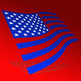 Vlag van de V.S. Stock Fotografie