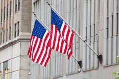 Vlag van de V.S. (Amerika) op Wall Street Royalty-vrije Stock Foto's