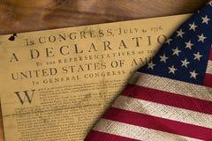 Vlag van de V.S. en Verklaring Royalty-vrije Stock Fotografie