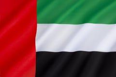 Vlag van de verenigde Arabische emiraten Royalty-vrije Stock Afbeelding
