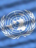 Vlag van de Verenigde Naties Stock Foto's