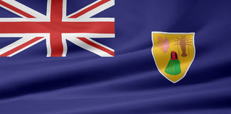 Vlag van de Vlag van de Eilanden van Turken en Caicos vector illustratie