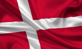 Vlag van Denemarken vector illustratie