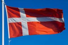 Vlag van Denemarken Royalty-vrije Stock Afbeeldingen