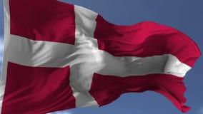 Vlag van Denemarken stock illustratie