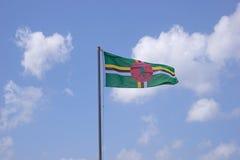 Vlag van Dominica stock foto
