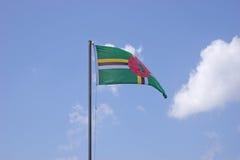 Vlag van Dominica stock fotografie