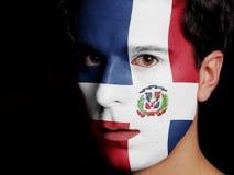 Vlag van Dominicaanse Republiek Royalty-vrije Stock Afbeeldingen