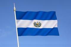 Vlag van El Salvador Royalty-vrije Stock Foto's
