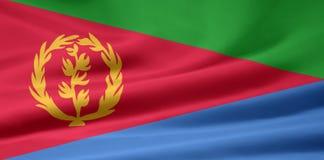 Vlag van Eritrea stock illustratie