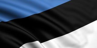 Vlag van Estland Royalty-vrije Stock Foto's