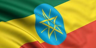 Vlag van Ethiopië Stock Fotografie