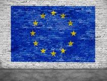 Vlag van Europese Unie en voorgrond Royalty-vrije Stock Foto