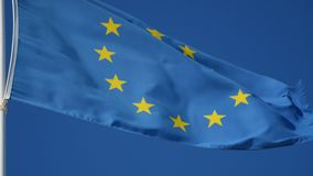 Vlag van Europese Unie golvende close-up stock videobeelden