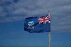 Vlag van Falkland Eilanden Stock Foto