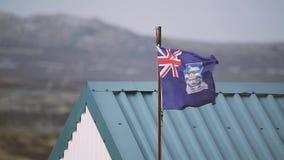Vlag van Falkland Islands Islas Malvinas stock video