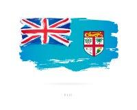 Vlag van Fiji Abstract concept Vector Illustratie