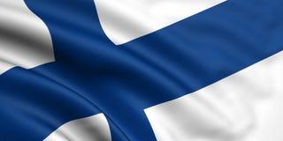 Vlag van Finland Stock Afbeelding