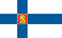 Vlag van Finland - finse vlag Stock Afbeeldingen