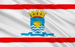 Vlag van Florianopolis in Santa Catarina, Brazilië vector illustratie