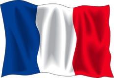 Vlag van Frankrijk Stock Afbeeldingen