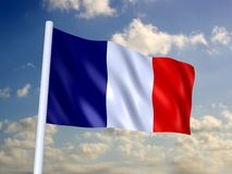 Vlag van Frankrijk vector illustratie