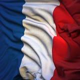 Vlag van Frankrijk, het fladderen Stock Afbeeldingen