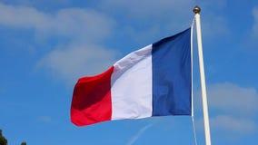 Vlag van Frankrijk op Wind het Golven stock videobeelden