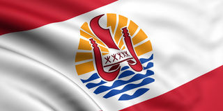 Vlag van Franse Polynesia Stock Fotografie