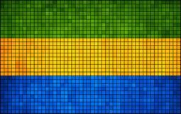 Vlag van Gabon Royalty-vrije Stock Afbeeldingen