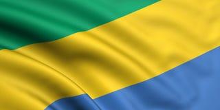 Vlag van Gabon Stock Afbeeldingen