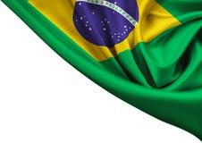 Vlag van geïsoleerde het gewas van Brazilië Stock Afbeelding