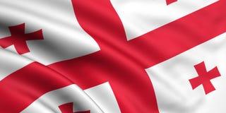 Vlag van Georgië stock illustratie