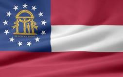 Vlag van Georgië royalty-vrije illustratie