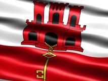 Vlag van Gibraltar Stock Fotografie