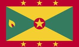 Vlag van Grenada Royalty-vrije Stock Foto's