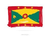 Vlag van Grenada Abstract concept Stock Illustratie