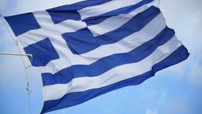 Vlag van Griekenland stock videobeelden
