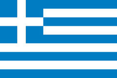 Vlag van Griekenland Stock Afbeelding