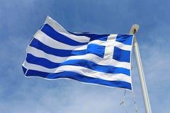 Vlag van Griekenland Stock Fotografie