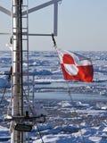 Vlag van Groenland Stock Afbeeldingen
