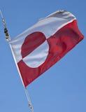 Vlag van Groenland Stock Foto's