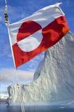 Vlag van Groenland Stock Fotografie