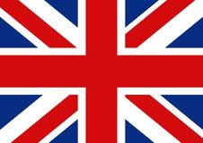 Vlag van Groot-Brittannië Officiële Britse vlag van het Verenigd Koninkrijk Stock Afbeeldingen