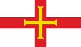 Vlag van Guernsey-pictogramillustratie Stock Fotografie