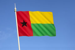 Vlag van Guinea-Bissau Stock Afbeeldingen